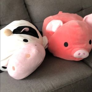 Other - Cow and pig plush